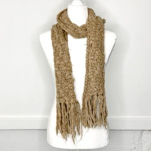 American Eagle Knit Winter Scarf Brown